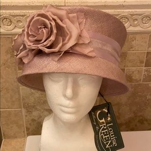 NWT Louise Green Millinery Lavender straw hat